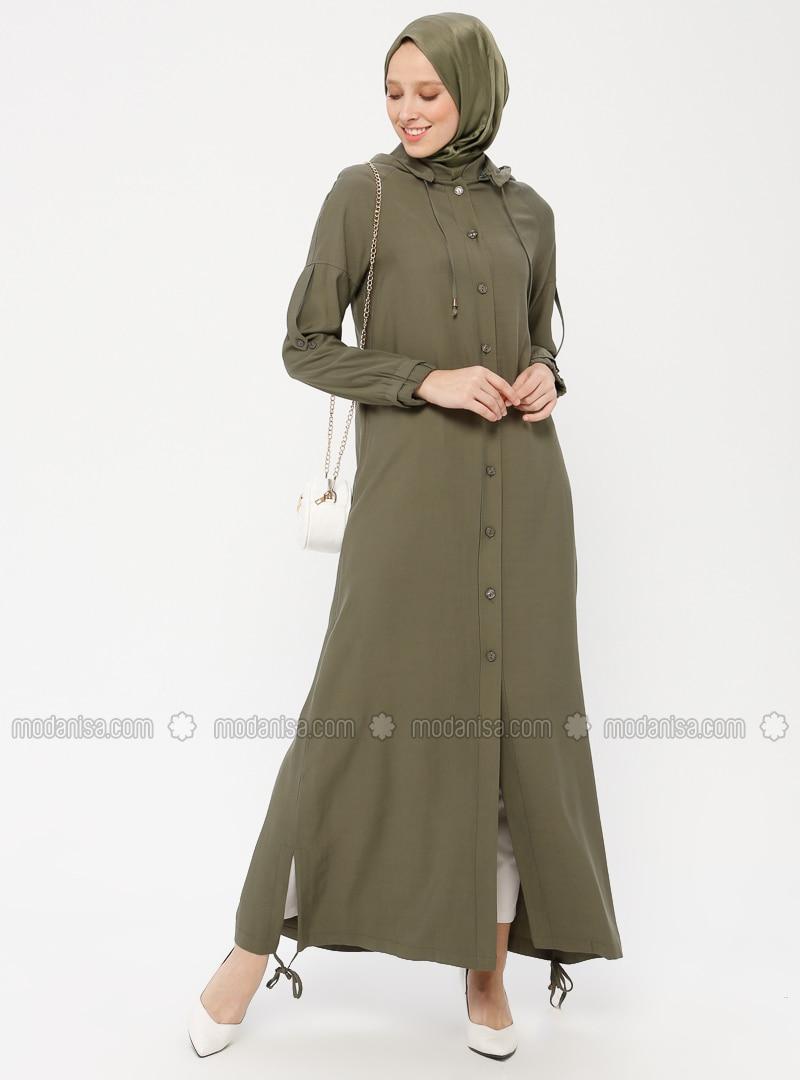Khaki - Unlined - Viscose - Topcoat