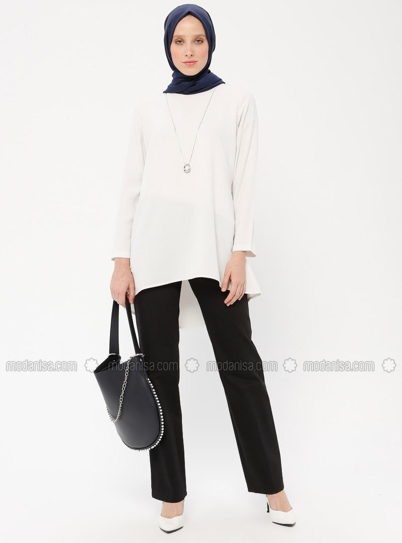 Black - Cotton - Pants