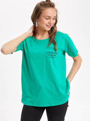 Green - Girls` Tunic - DeFacto