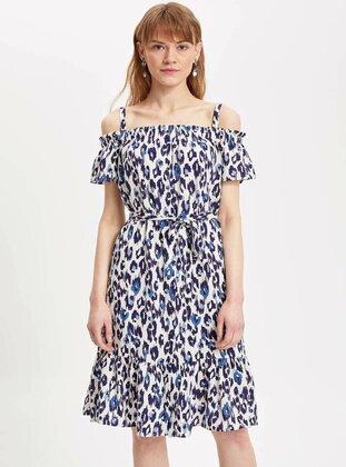 White - Girls` Dress - DeFacto