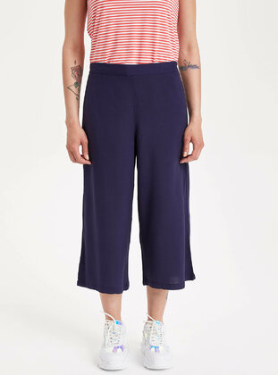 Navy Blue - Girls` Pants - DeFacto