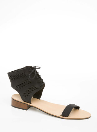 Black - Girls` Sandals