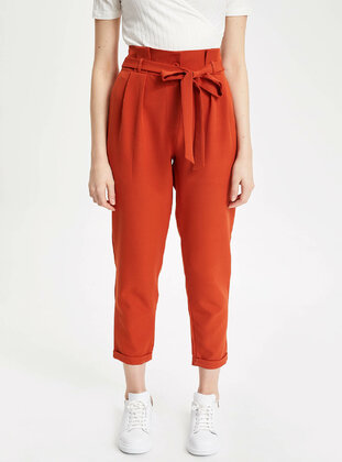 Orange - Girls` Pants - DeFacto