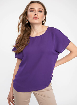 Purple - Girls` Blouse - DeFacto