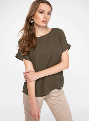 Green - Girls` Blouse - DeFacto