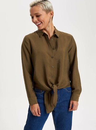 Khaki - Girls` Tunic - DeFacto