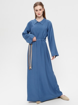 Indigo - Point Collar - Unlined - Dress