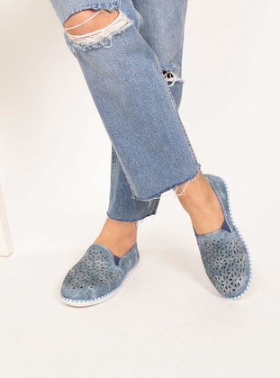 Blue - Casual - Flat Shoes - AKER