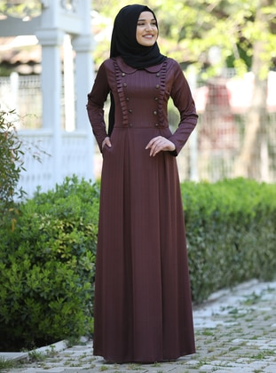 Terra Cotta - Round Collar - Fully Lined - Dress