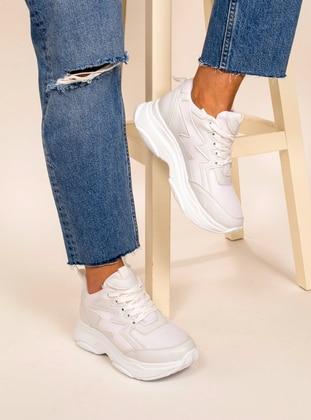 White - Sport - Sports Shoes - AKER