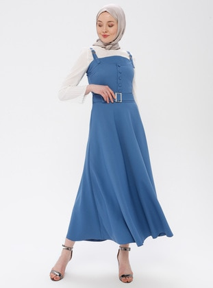Saxe - Unlined - Cotton - Dress