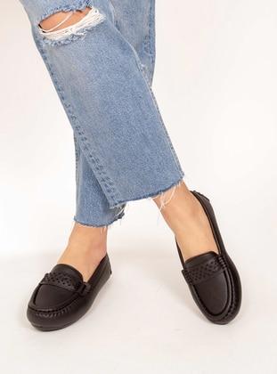 Black - Flat - Flat Shoes - AKER