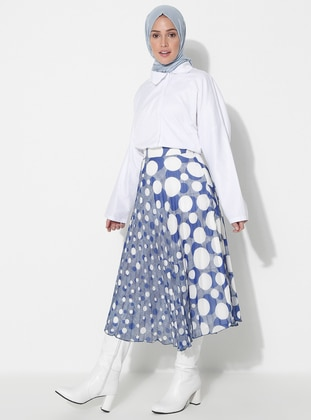 Saxe - Geometric - Fully Lined - Skirt