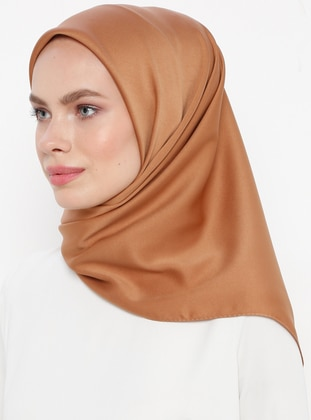 Brown - Plain - Rayon - Scarf