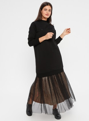 Black - Gold - Fully Lined - Skirt