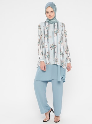 Blue - Mint - Multi - Unlined - Suit