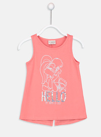 Crew neck - Coral - Girls` T-Shirt