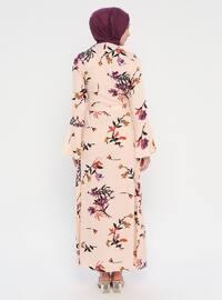 Powder - Multi - Crew neck - Unlined - Viscose - Dress