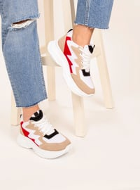 Red - White - Sport - Sports Shoes - AKER
