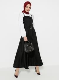 Siyah - Astarsız Kumaş - Pamuk - Elbise