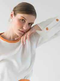 Orange - Crew neck - Tunic