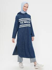 Blue - Navy Blue - Denim - Tunic