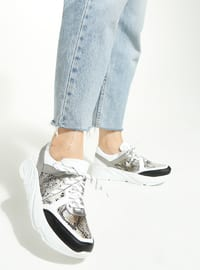 White - Gray - Sport - Sports Shoes - - Rollerbird