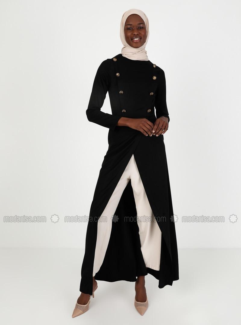Black - Unlined - Crepe - Topcoat