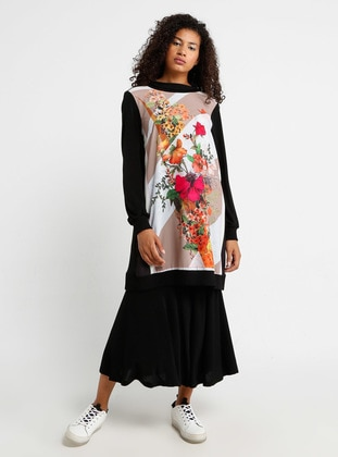 Black - Multi - Tunic