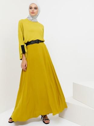 Yellow - Unlined - Viscose - Skirt