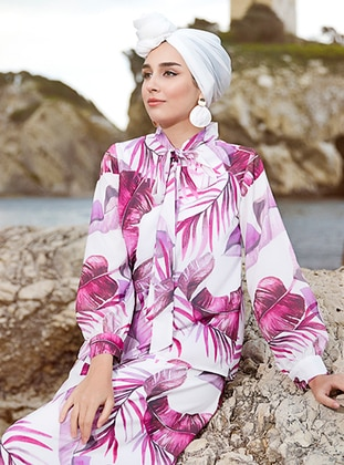 White - Pink - Multi - Fully Lined - Suit