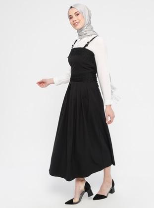 Black - Unlined - Cotton - Dress