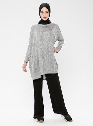 Gray - Multi - Unlined - Suit