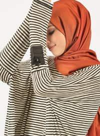 Black - White - Stripe - Cotton - Tunic