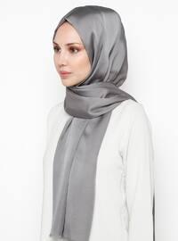 Gray - Printed - Shawl -  Eşarp