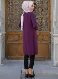 Purple - Unlined - Cotton - Jacket