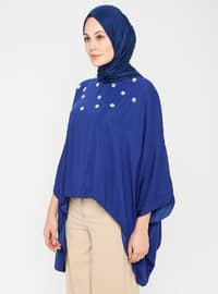 Saxe - Crew neck - Unlined - Poncho