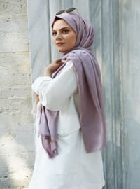 Powder - Plain - Cotton - Shawl -  Eşarp