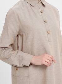 Stone - Point Collar - Cotton - Tunic