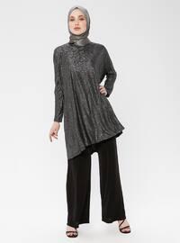 Black - Multi - Unlined - Suit