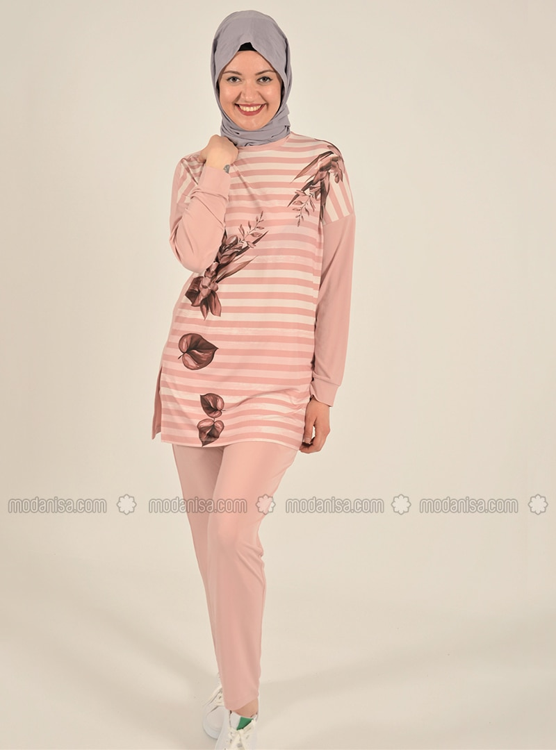 Pink - Stripe - Unlined - Suit