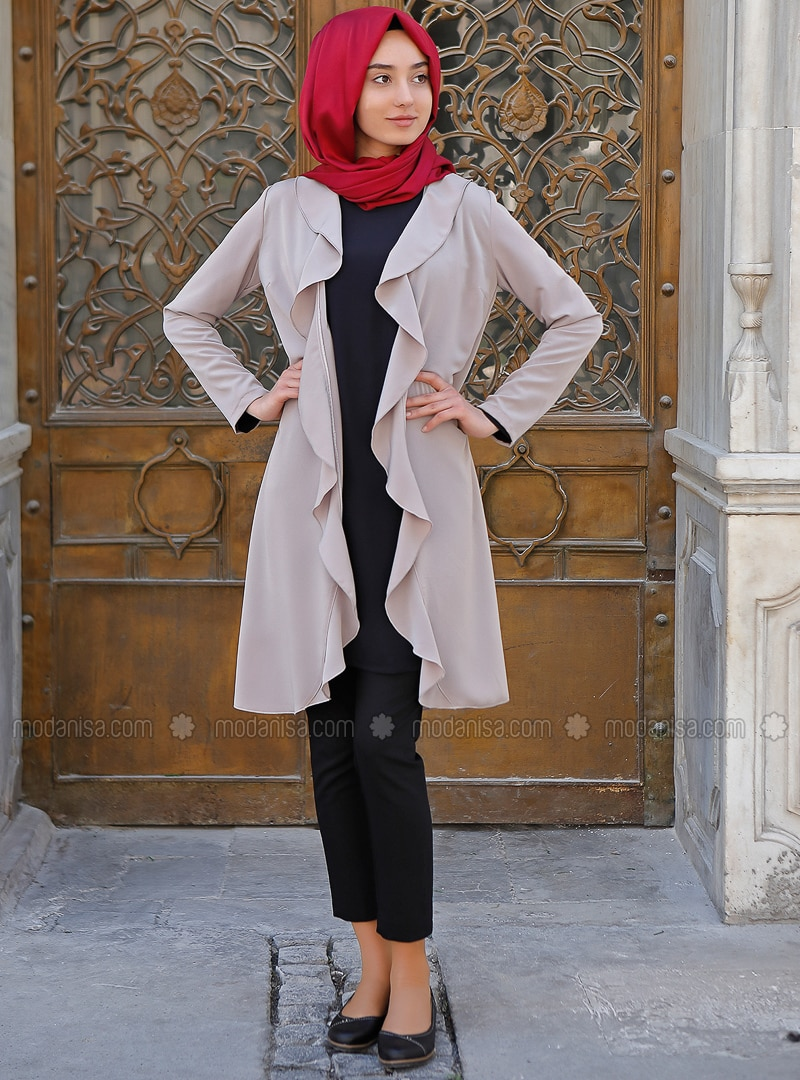 Beige - Unlined - Cotton - Jacket