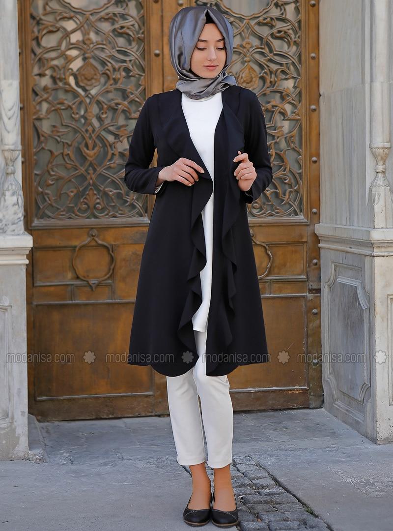 Black - Unlined - Cotton - Jacket