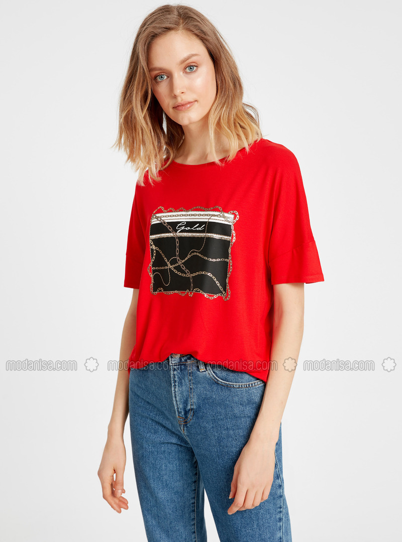 Crew neck - Red - T-Shirt