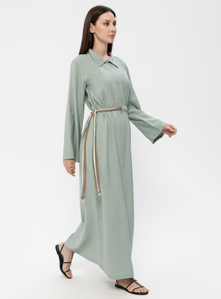 Green Almond - Point Collar - Unlined - Dress