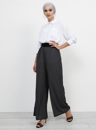 Black - Geometric - Culottes