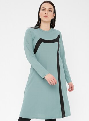 Mint - Crew neck - Viscose - Plus Size Tunic