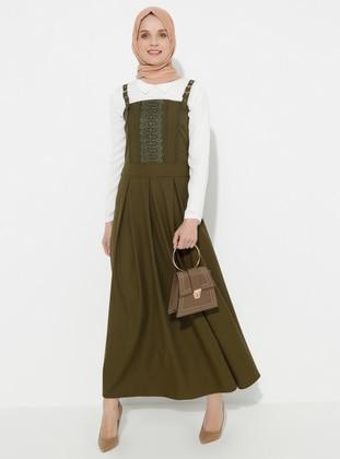 Khaki - Unlined - Dress
