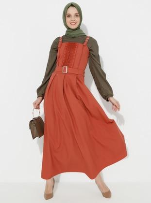 Tan - Unlined - Dress