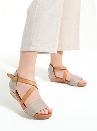 Beige - Tan - Sandal - Sandal